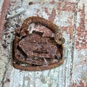 Old broken rusty lock — Stock Photo