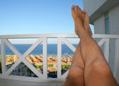 Tropical beach resort — Stock Photo