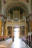 Giant organ in old Church — Stock Photo