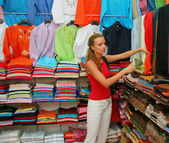 Shopping for cloth — Stock Photo