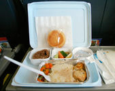 Classic airplane food — Stock Photo