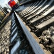 Rushing train — Stock Photo