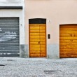 Three doors — Stock Photo