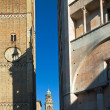Stock Photo: Italibell towers and baptistery