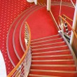 Stock Photo: Cruise ship interior stairs