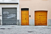 Three doors — Stock Photo