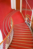Cruise ship interior stairs — Stock Photo