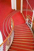 Cruise ship interior stairs — Stock Photo
