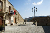 Old Sicilian village square — Stock Photo