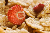 Dried strawberry and cereals — Stock Photo