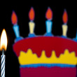 Stock Photo: Birthday candle with cake