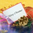 Foto Stock: Merry Christmas greetings