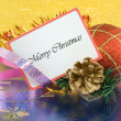 Merry Christmas greetings — Stock Photo