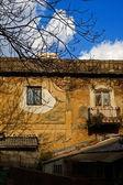 Decayed house facade — Stock Photo