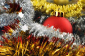 Rood bauble — Stockfoto