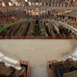 Arena inside Colosseum Rome, Italy — Stock Photo