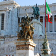 Victor Emmanuel II Monument in Rome — Stock Photo #2746340