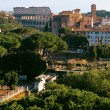 Roman forum and Colosseum, Rome — Stock Photo
