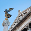 Peace's angel statue, Rome detail - Stock Photo