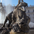 Fountain in Piazza della Republica, Rome - Stock Photo
