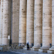 Stock Photo: Colonnade of St.Peter's Basilica