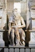 Estátua de moisés, roma — Foto Stock