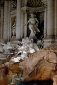 Di Trevi fountain, Rome detail — Stock Photo
