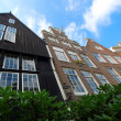 Row houses in Amsterdam — Stock Photo