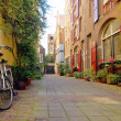 Romantic street view in Amsterdam - Stock Photo