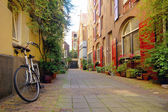 Romantic street view in Amsterdam — Stock Photo