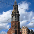 Clock tower in Amsterdam — Stockfoto