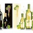 Stock Vector: Packaging design for white and red wines
