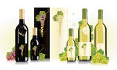 Packaging design for white and red wines — Stock Vector