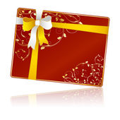 Gift card with floral decorations — Vector de stock