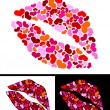 One kiss for Valentine's Day — Imagen vectorial