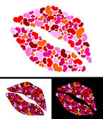 One kiss for Valentine's Day — Stock Vector