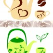 Coffee and tea illustrations — Stock Vector