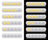 Rating sterren voor web — Stockvector