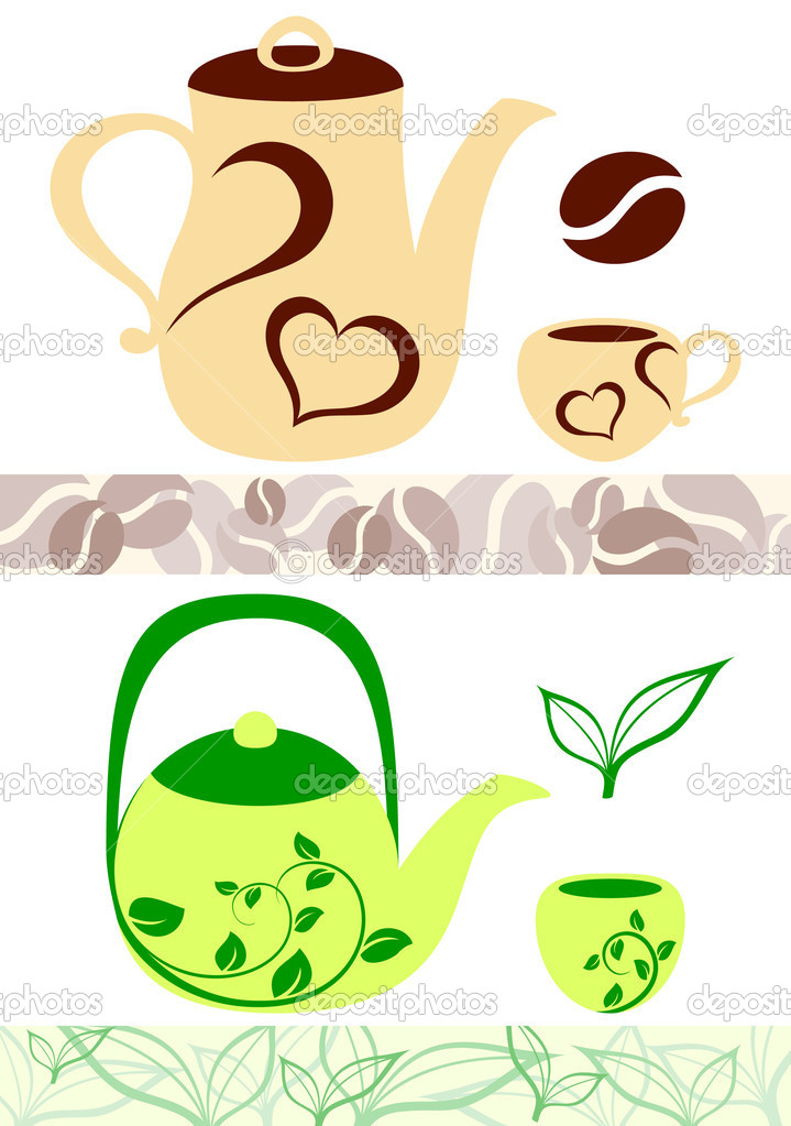 Coffee and tea illustrations. Vector — Stock Vector #2895374