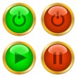 Stock Vector: Ring buttons for web