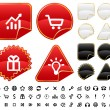 Stock Vector: Buttons and signs set