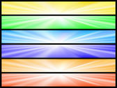 Banners with lightrays — Stock Vector