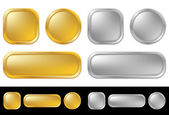 Gold and silver buttons — Stock Vector