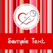 Royalty-Free Stock Vektorfiler: Greeting card 1