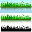 Grass brushes — Stock Vector