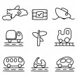 Royalty-Free Stock Vector Image: Transportation icons