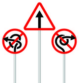 Road signs (arrows) — Stock Vector