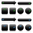 Black buttons for web — Vettoriali Stock