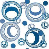 シームレスな抽象的な青パターン — ストックベクタ