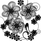 Kunst Blumen — Stockvektor